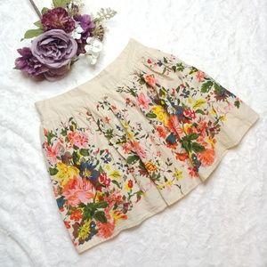 Forever 21 Vintage Style Cotton Floral Skirt